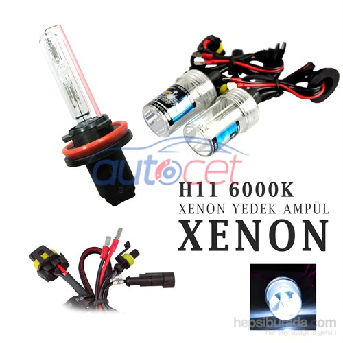 AutoCet H11 6000K Xenon Yedek Ampulü 2923a