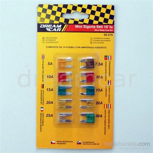 Dreamcar Mini Geçme Fişli Sigorta 10'lu 10'LU 05070