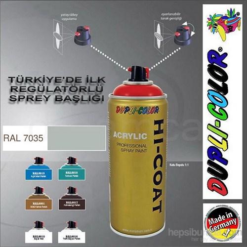 Dupli-Color Hi-Coat Ral 7035 Parlak Açık Gri Akrilik Sprey Boya 400 Ml. Made in Germany 406249