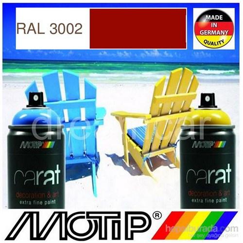 Motip Carat Ral 3002 Parlak Karmen Kırmızı Akrilik Sprey Boya 400 Ml. Made in Germany 413421