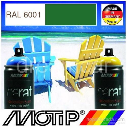 Motip Carat Ral 6001 Parlak Zümrüt Yeşili Akrilik Sprey Boya 400 Ml. Made in Germany 413445