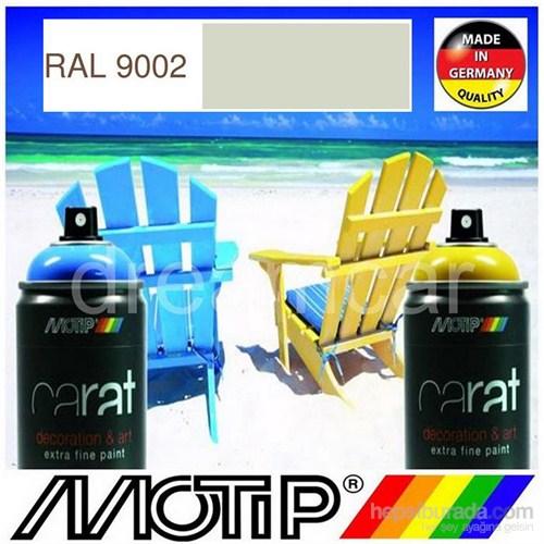 Motip Carat Ral 9002 Parlak Gri Beyaz Akrilik Sprey Boya 400 Ml. Made in Germany 413476