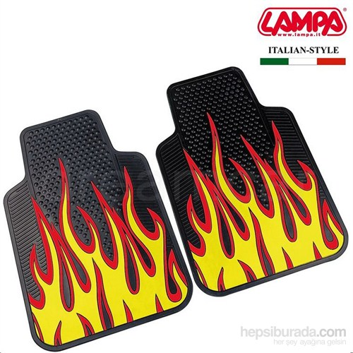 Lampa Fire&Furious Sarı-Siyah Kauçuk Ön Paspas 2 Ad. 65 cm x 44 cm 24282