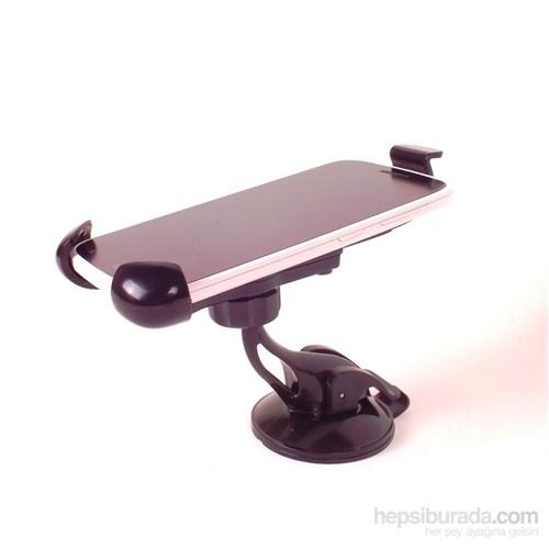 AutoCet 360 Derece Dönebilir Güçlü Kilit Sistemli Telefon Tutucu 4214a