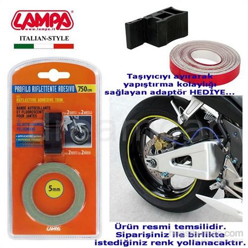 Lampa Sarı Jant Fosforlu Sticker Adaptörlü 90044