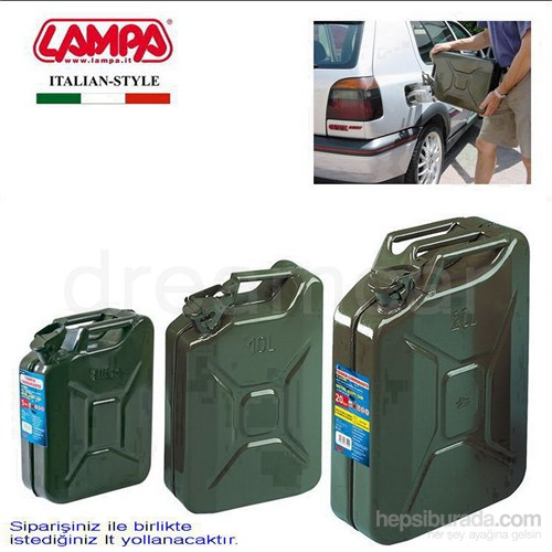 Lampa Jerry-Can Askeri Metal Benzin Bidonu 20 L 67000