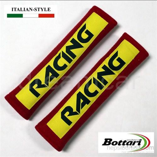Bottari Racing Siyah-Kırmızı Kemer Konfor Süngeri 16416