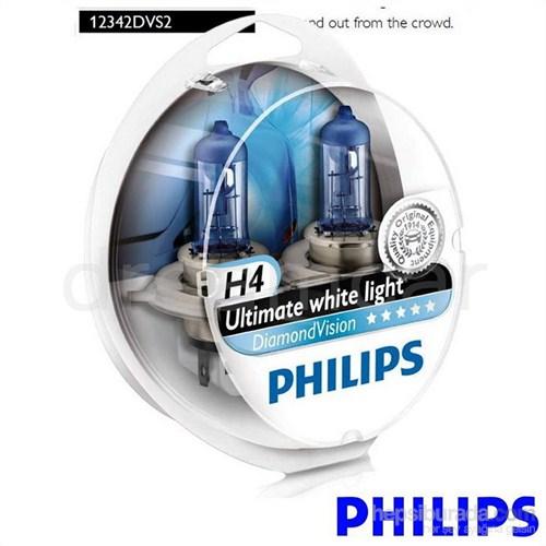 Philips H4 Diamond Vision Ultra Beyaz Işık 5000K