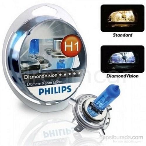 Philips H1 Diamond Vision Ultra Beyaz Işık 5000K