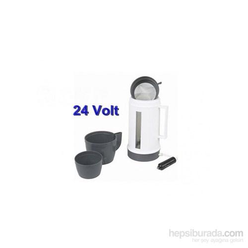 Schwer Araç İçi Kettle Kahve Çay Bardaklı 24V