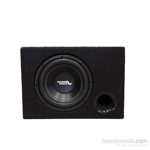 Soundmagus Sm 12P 30 Cm Çift Bobin 1600W Kabinli Subwoofer 4+4 Ohm