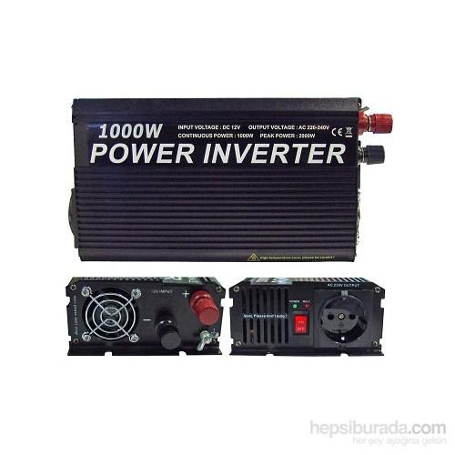 Space inverter Dönüştürücü 12V-220D 1000watt