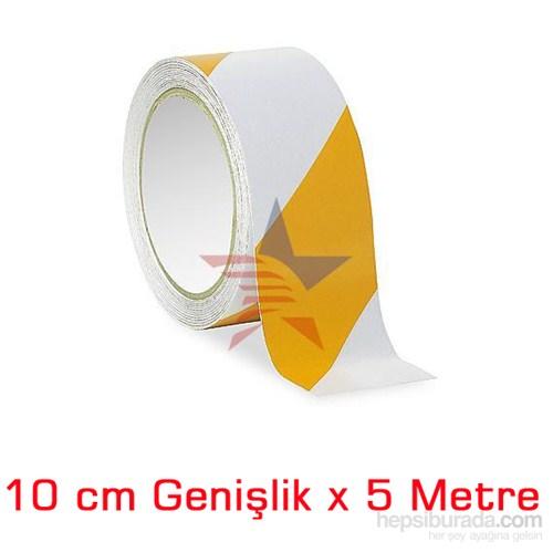 ModaCar BEYAZ/SARI 10 Cm Çarpraz Fosfor Bant 548811