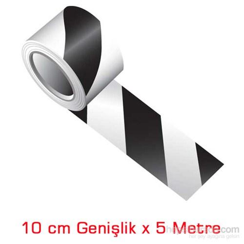 ModaCar Beyaz Siyah Çapraz Fosfor Bant 10 Cm Genişlik 548812