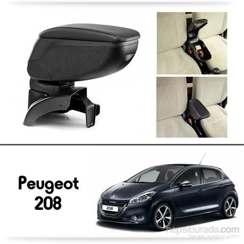 Schwer Peugeot 208 Koltuk Arası SİYAH Kol Dayama Kolçağı-8439