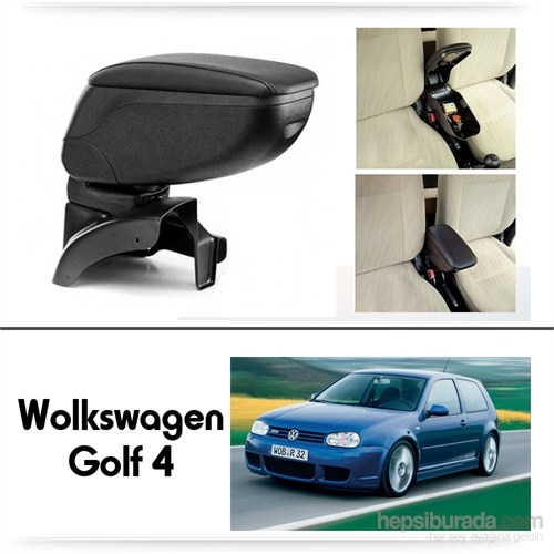 Schwer Volkwagen Golf 4 Koltuk Arası SİYAH Kol Dayama Kolçağı-8451