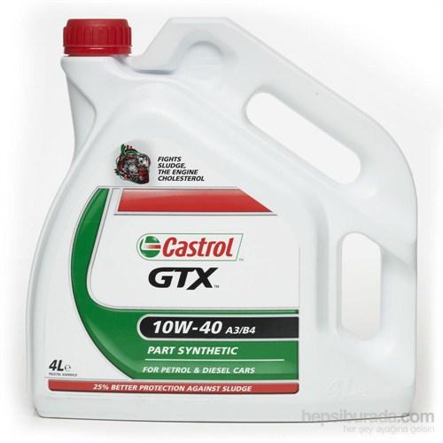 Castrol GTX 10w40 - A3/B4 - 4 Lt - Benzinli Dizel Motor Yağı