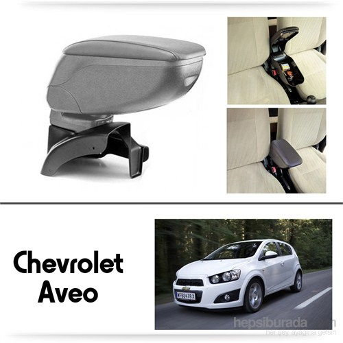 Schwer Chevrolet Aveo Koltuk Arası GRİ Kol Dayama Kolçağı-8455