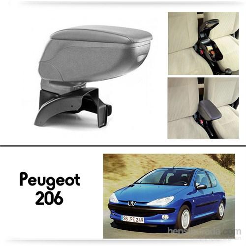Schwer Peugeot 206 Plus Koltuk Arası GRİ Kol Dayama Kolçağı-8486