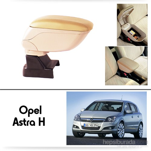 Schwer Opel Astra H Koltuk Arası BEJ Kol Dayama Kolçağı-8528