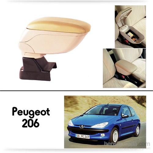 Schwer Peugeot 206 Plus Koltuk Arası BEJ Kol Dayama Kolçağı-8534