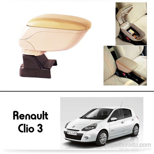Schwer Renault Clio 3 Koltuk Arası BEJ Kol Dayama Kolçağı-8539