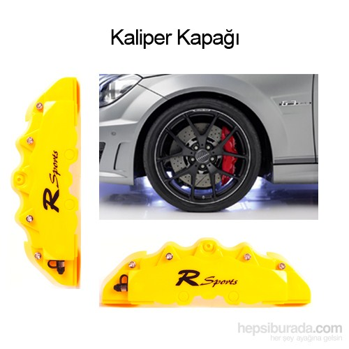 Scwher Kaliper Kapağı SARI 8072