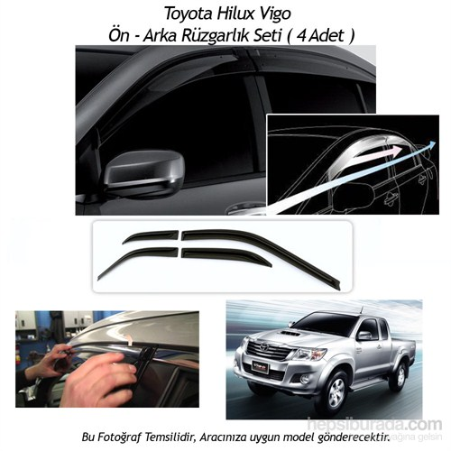 Schwer Toyota Hilux Vigo Ön-Arka 4 Cam Rüzgarlık Seti-8212