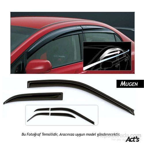 Schwer Mugen Peugeot Partner Tepee 2008-2015 Ön Cam Rüzgarlığı Seti-8287