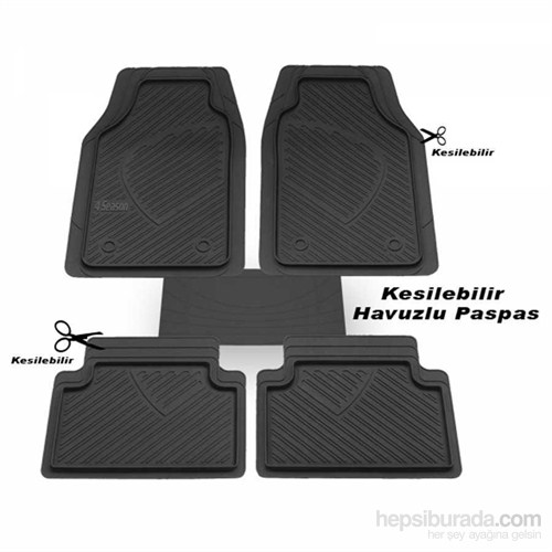 Havuzlu Paspas Siyah Audi A5 Sportback