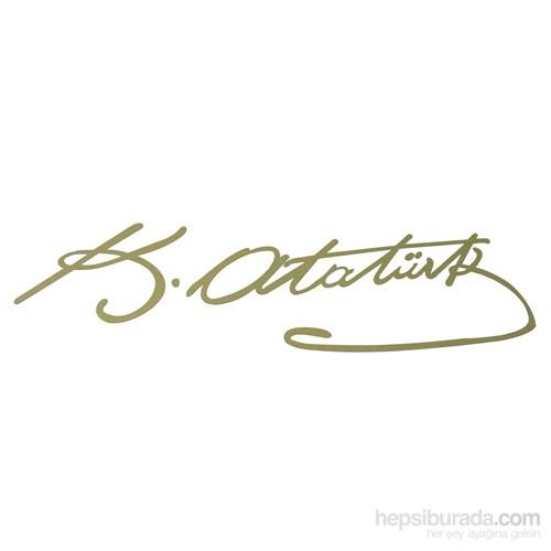 ModaCar K.Atatürk Gold İmza Sticker 20x6 cm 06a073