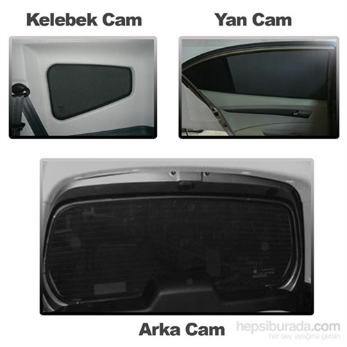 Toyota Corolla Sedan Perde 1998-2002 3 Cam