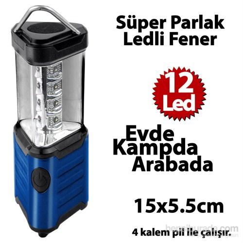 Automix Asmalı Kamp Feneri Mavi 12 Led