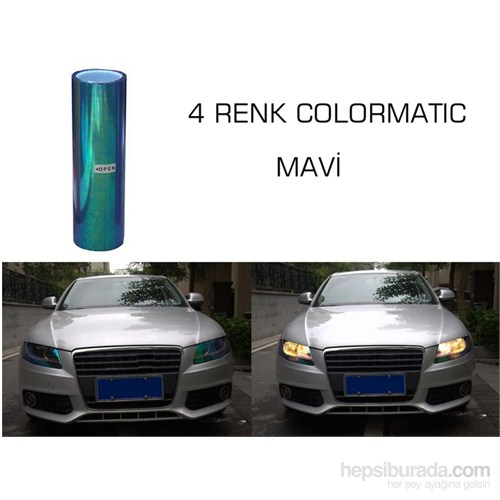ModaCar 4 RENK COLORMATIC MAVİ Far Stop Filmi 102410