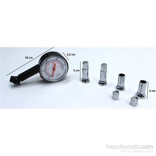 ModaCar Hava Ölçme Saati + Nikelajlı Sibop Kapağı Set 102424