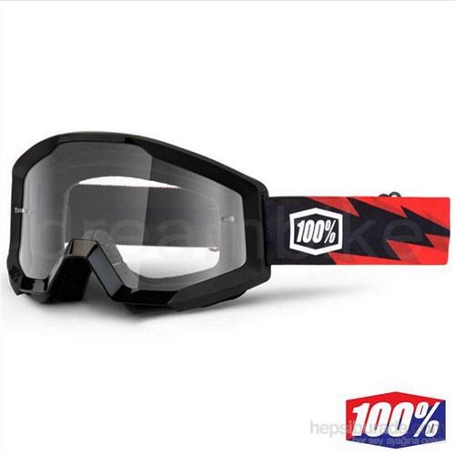 %100 The Strata Slash Motocross Gözlük Şeffaf Lens