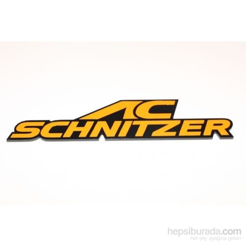 Ac Schnitzer Turuncu 3D Görünümlü Sticker 11 x 2,5 cm
