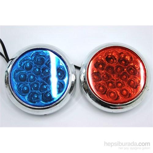 ModaCar 30 Ledli Mavi+Kırmızı Flash Lamba 102546