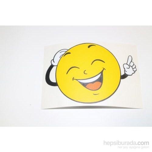 Gülen Yüz Sticker - 2 8 x 8 cm