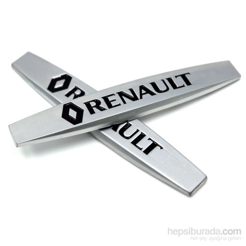 ModaCar Araç Arka ve Yan İçin Metal Renault Yazı 02634
