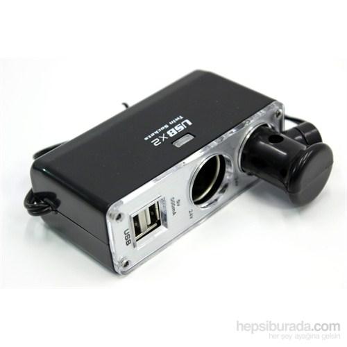 ModaCar 2 USB 2 Çakmak Çıkış Çoklayıcı 24 VOLT Araç 500 Ma 102669