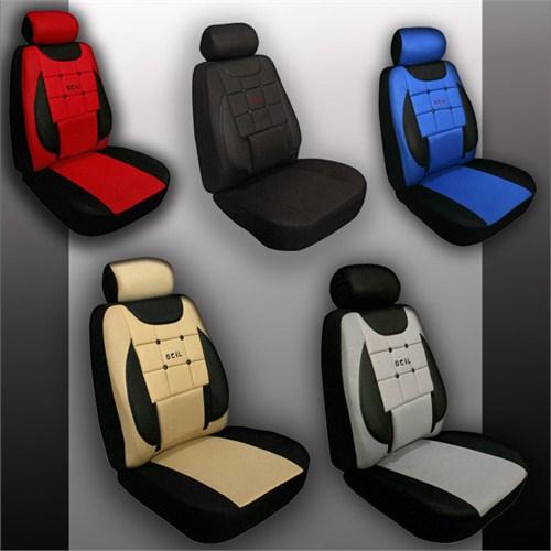 Stil EkoStar Peugeot TEPEE Araca Özel İthal Kumaş Ortapedik Oto Koltuk Kılıfı  Siyah - Gri