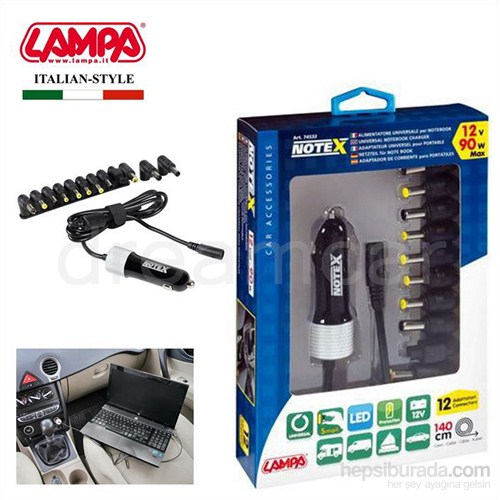Lampa Notex Araç Laptop Şarjı 12V 90W Max 74532