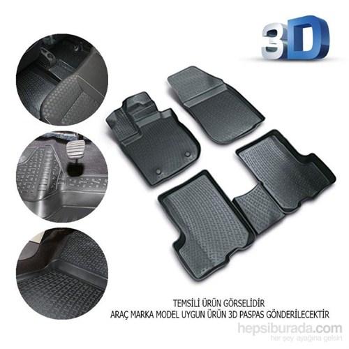 Opel Zafira 2005 Sonrası 3D Kauçuk Paspas Siyah