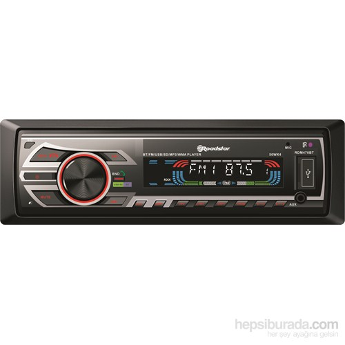 Roadstar RDM470BT Kumandalı USB,MP3,WMA,FLAC Tuner, Ön Aux In Çalar