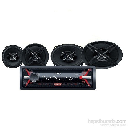 Sony SXB-6913 Cdli Oto Teyp ve Hoparlörlü Mega Bass Performans Seti
