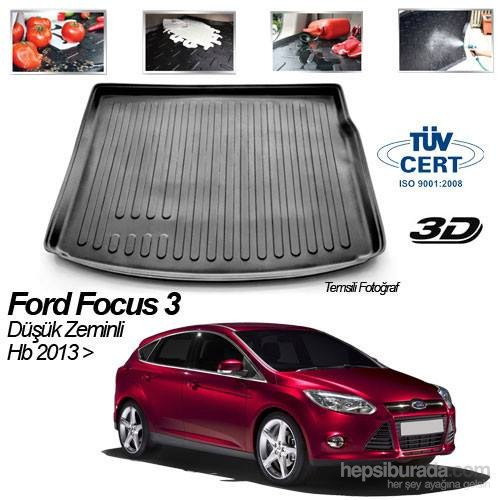 Ford Focus 3 Hb Düşük Zeminli 2013 Sonrası Bagaj Havuzu
