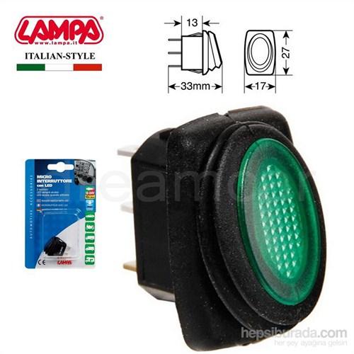 Pilot Yeşil Ledli Anahtar Düğmesi Su Geçirmez 12/24V 45536