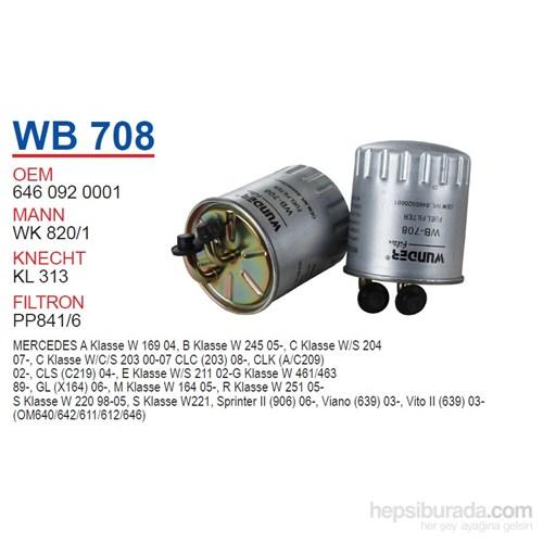 Wunder MERCEDES 211 KASA E200CDI - A160CDI - C220CDI - ViTO 646 MOTOR Mazot Filtresi OEM NO:64609200