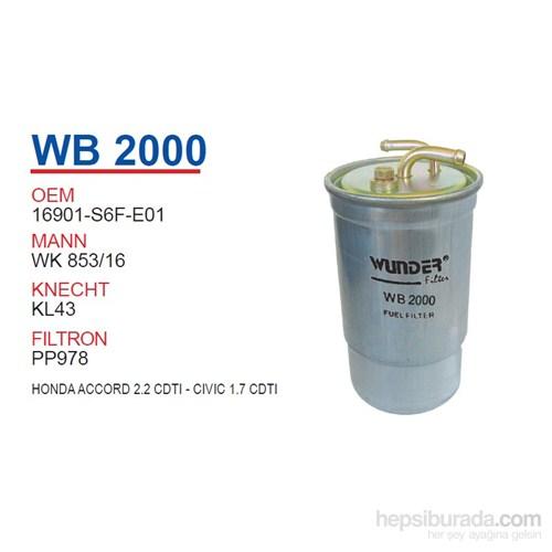 Wunder HONDA ACCORD 2.2 CDTI - CiViC 1.7 CDTI Mazot Filtresi OEM NO:16901-S6F-E01